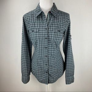 Old Navy Long Sleeve Plaid Button Down Shirt